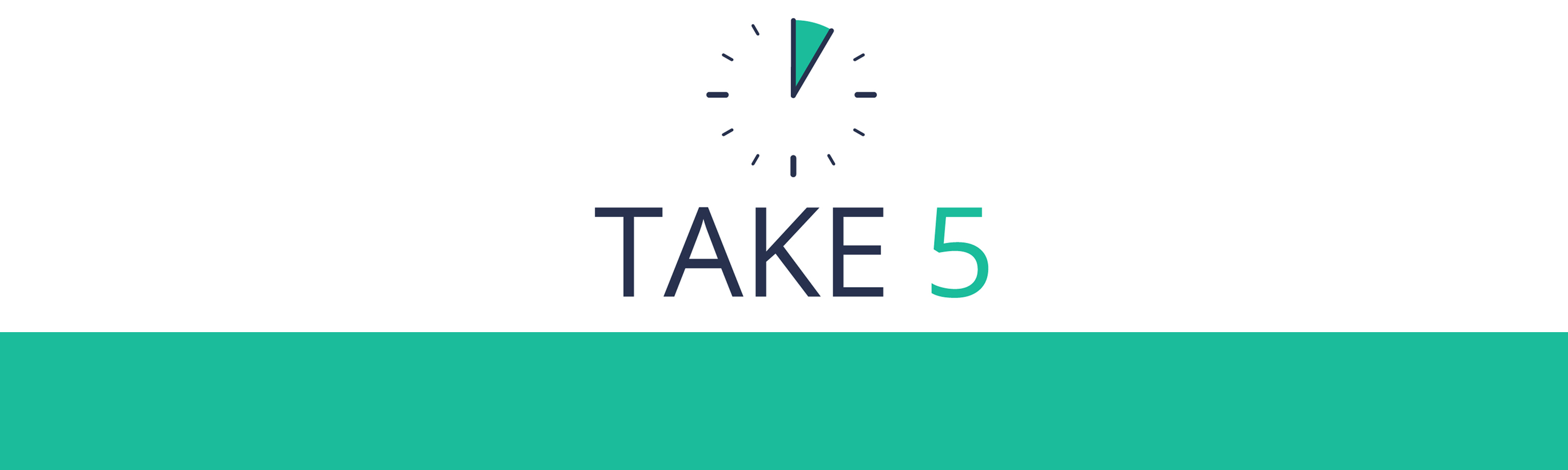 Take 5 logo and banner