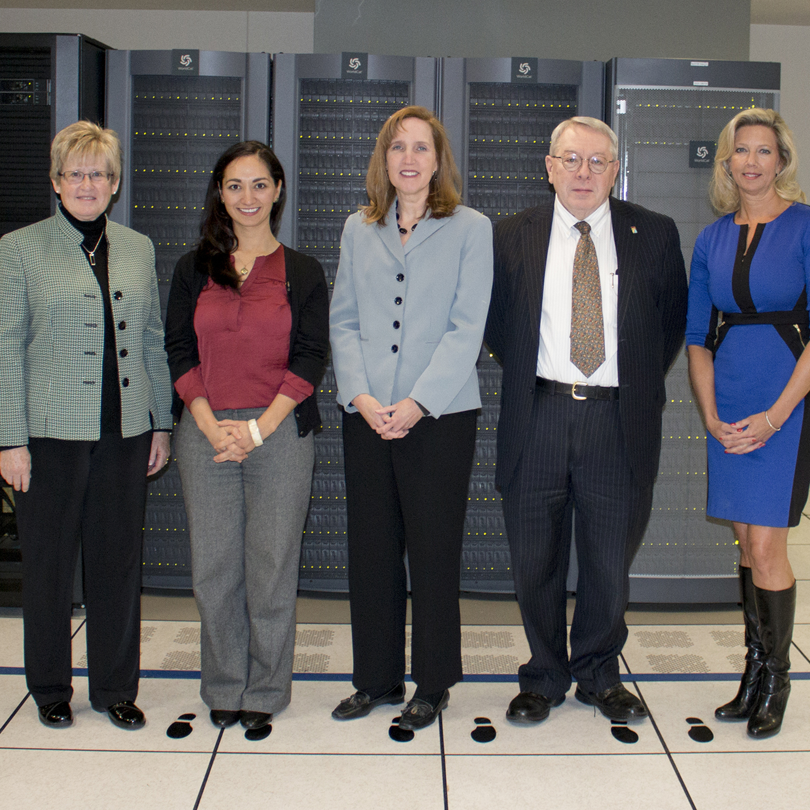 2018 State Library Board: L to R: Krista Taracuk, President; Tracy Nájera, member; Laurie Gemmill Arp, Vice-President; Michael Merz, member; and Melissa Deters, member