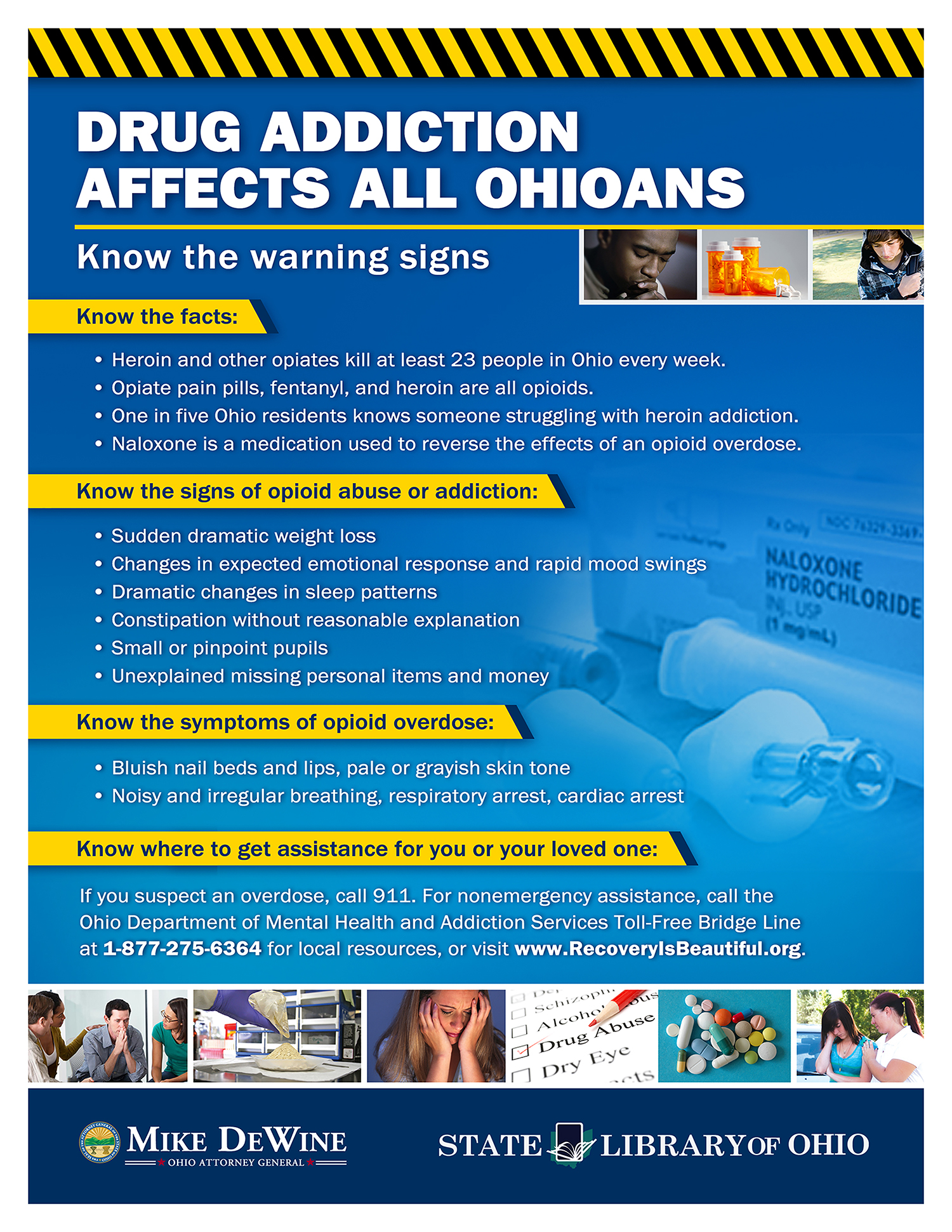 Opiod Addiction Affects All Ohioans poster