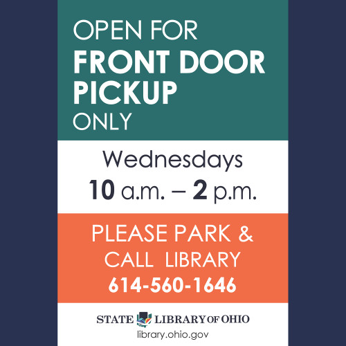 graphic of Open for Front-Door Pick up only sign