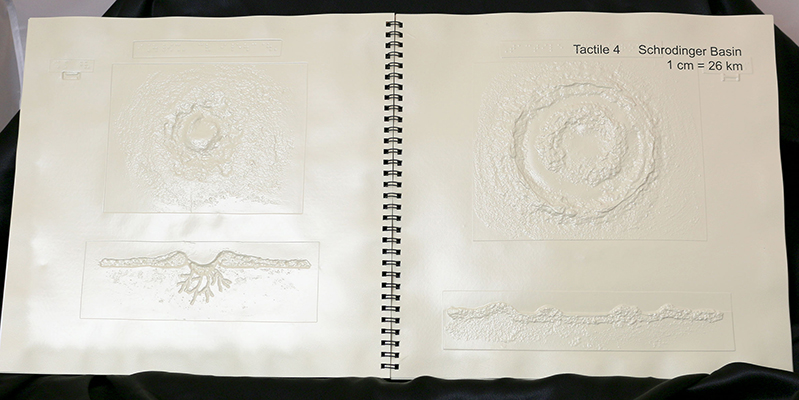 Photo of inside of book - Getting a Feel for Lunar Craters