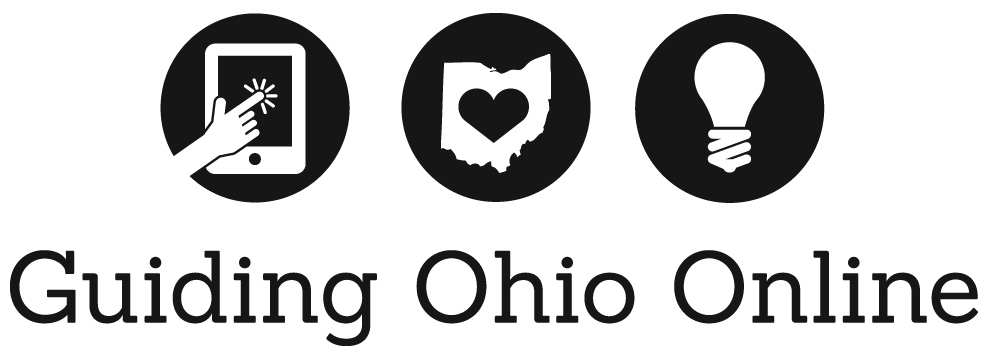 Guiding Ohio Online - Black and White - PSD format