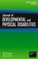cover for Journal of Developmental and Physical Disabilities
