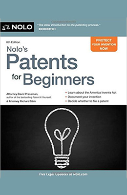 Book cover for Nolo's Patents for Beginners