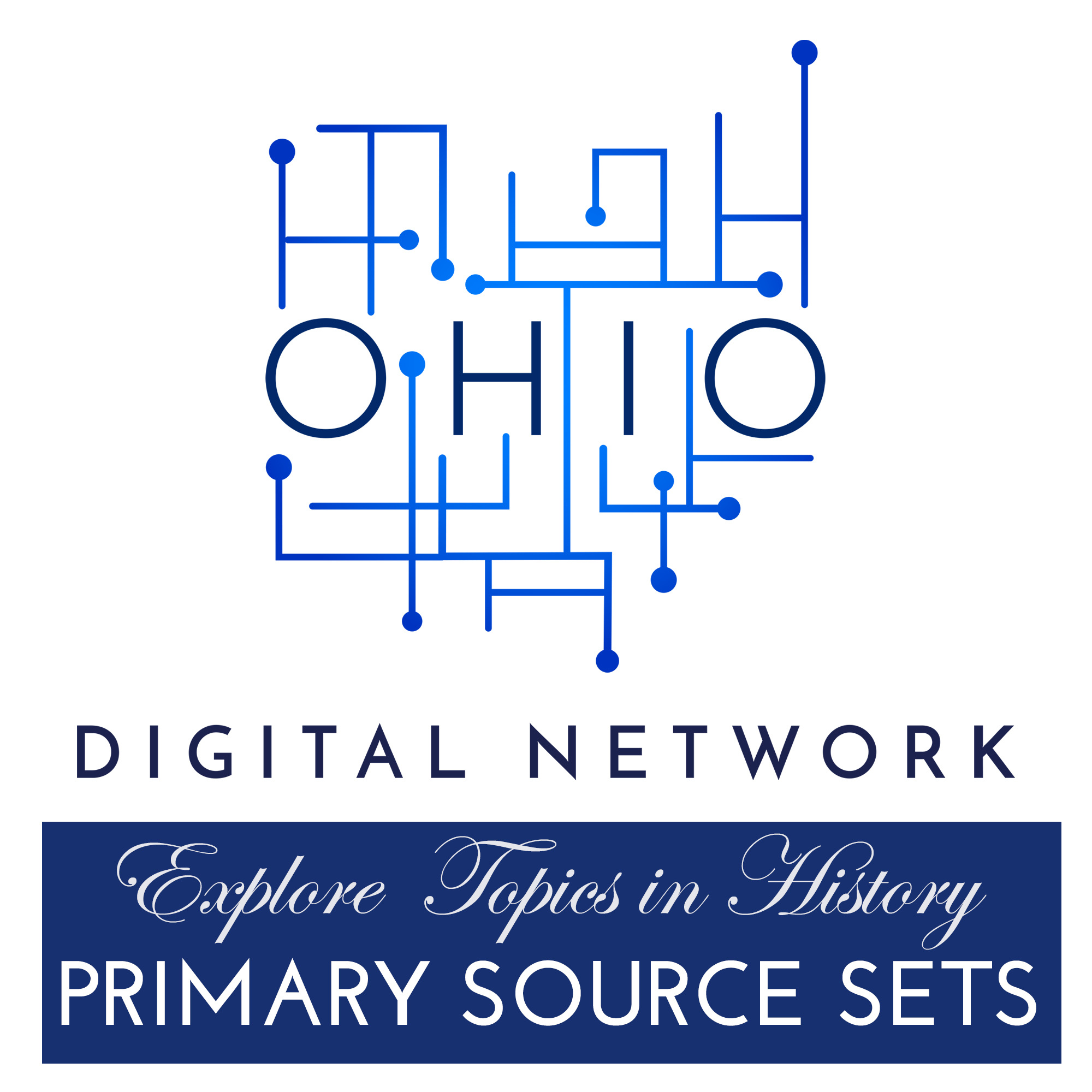 Ohio Digital Network logo and Primary Source Sets text