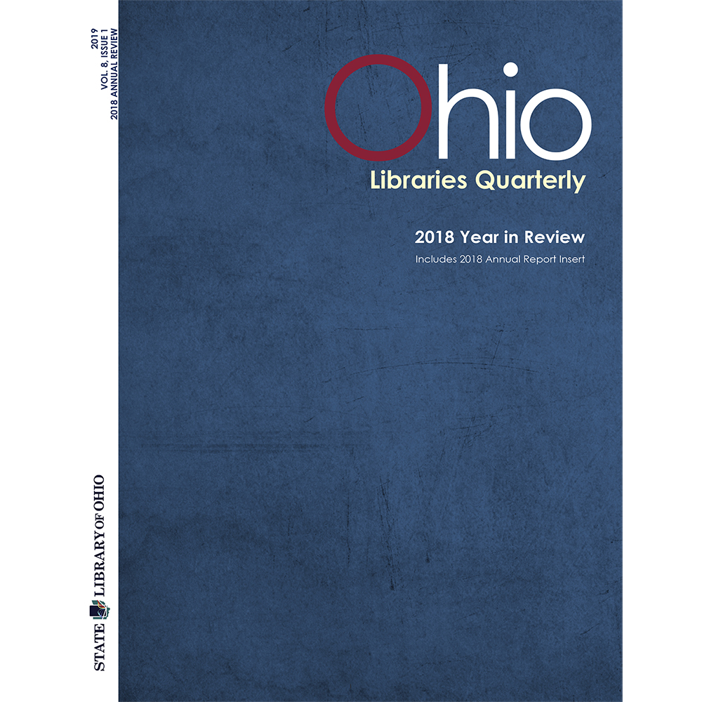 Cover of the Ohio Libraries Quarterly Vol. 8, Issue 1
