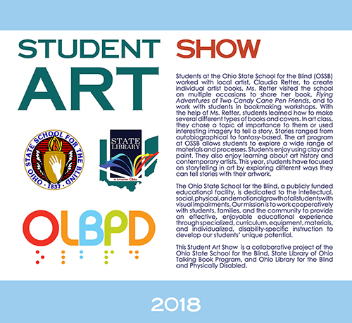 Sign for Ohio State School for the Blind Student Art Show 2018