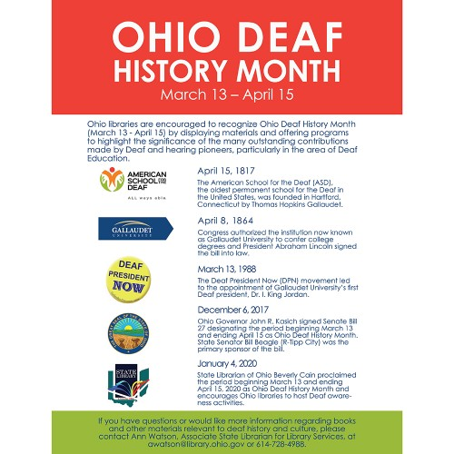 Small image of Ohio Deaf History Month sign