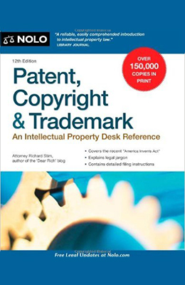 Patent,Book cover for Nolo's Copyright, and Trademark