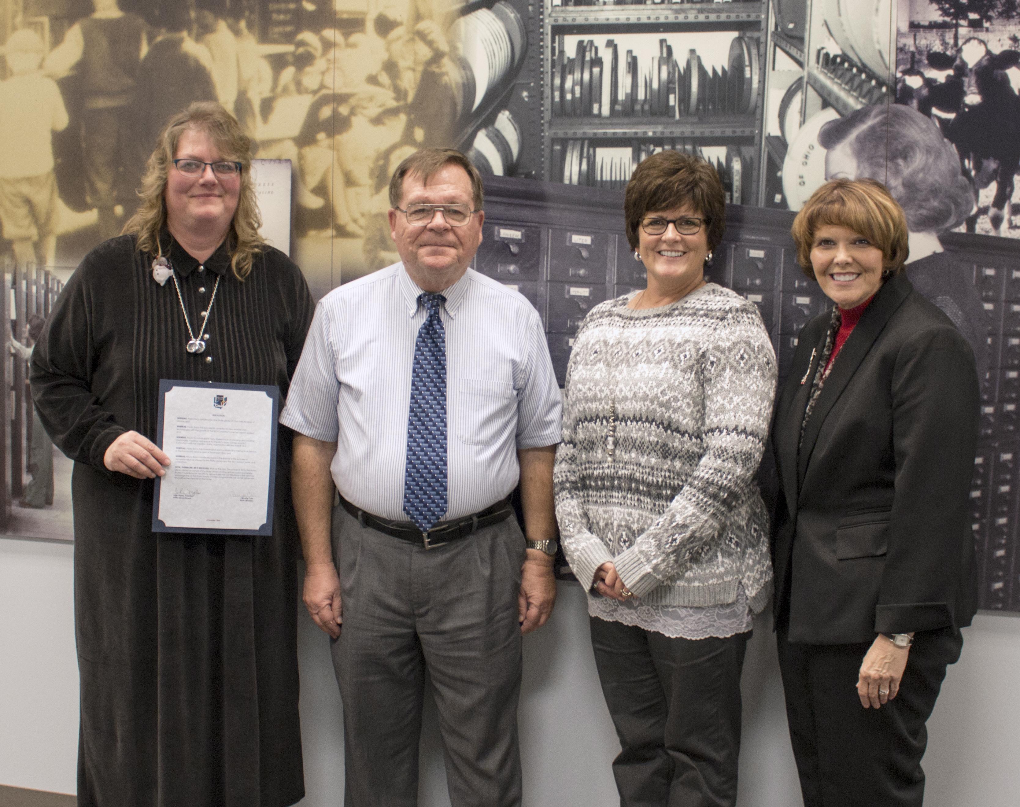Photo of Paula Buco, John Myles, Dianna Clark, and Beverly Cain