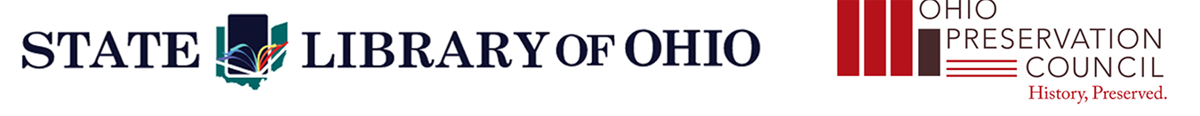 State Library and Ohio Preservation Council logos
