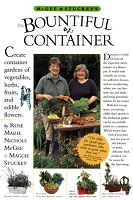 Book cover for McGee & Stuckey's the bountiful container : a container garden of vegetables, herbs, fruits and edible flowers