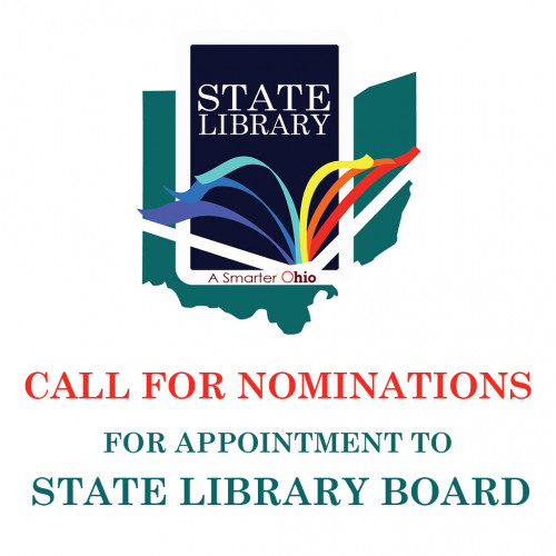 graphic of State LIbrary logo and Call for Nominations text