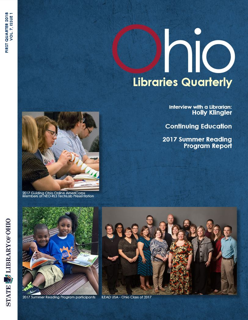 Cover of the Ohio Libraries Quarterly Vol. 7, I1