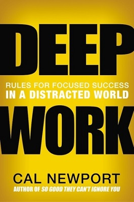 Book cover for Deep work : rules for focused success in a distracted world