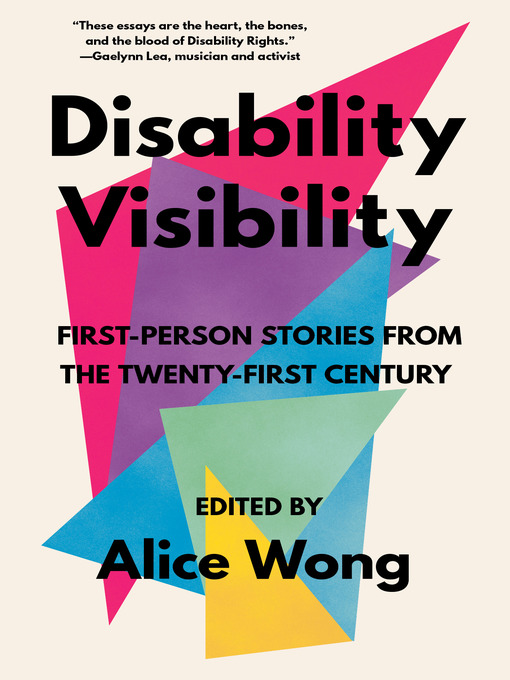 Disability Visibility book cover