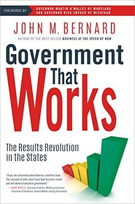 book cover for Government that works : the Results Revolution in the states / John M. Bernard