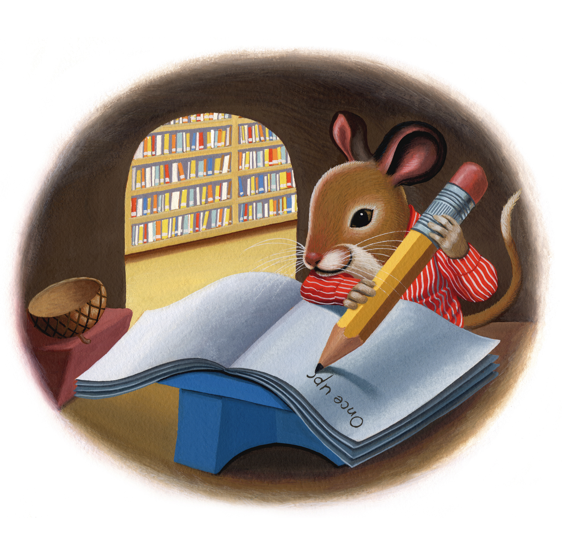 Illustration of Library Mouse by Daniel Kirk