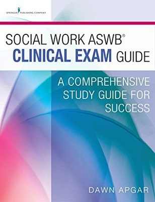 Book cover for Social Work ASWB Clinical Exam Guide