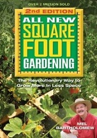 Book cover for All new square foot gardening : the revolutionary way to grow more in less space Mel Bartholomew links to catalog