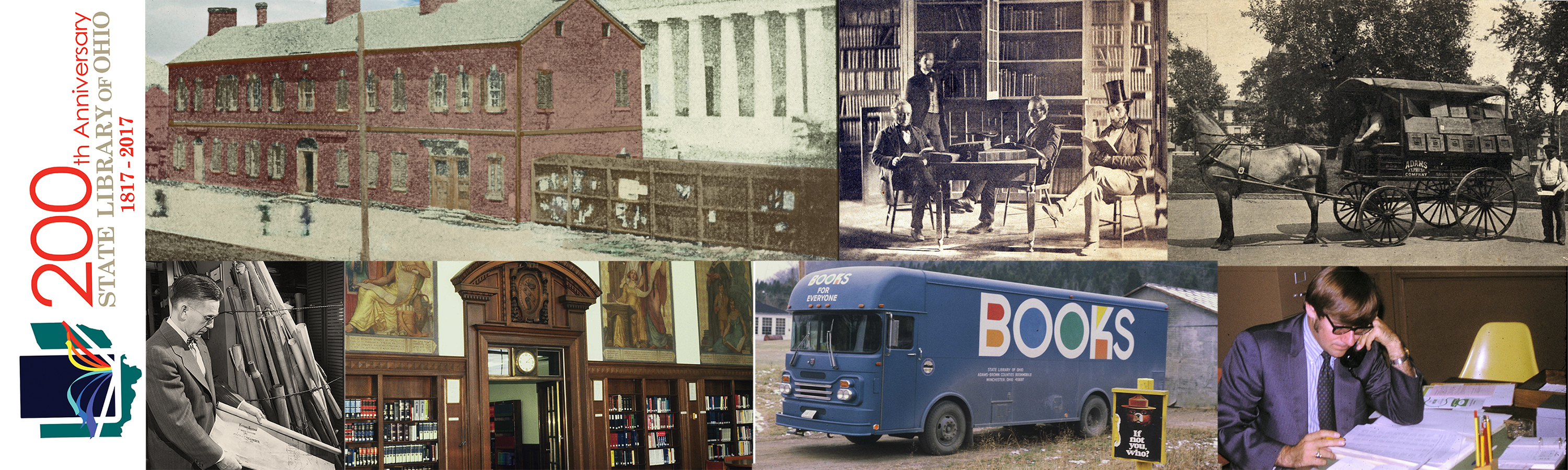 State Library Bicentennial with photos from our past